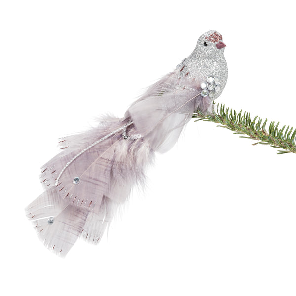 Bird Clip with Feathers Ornament