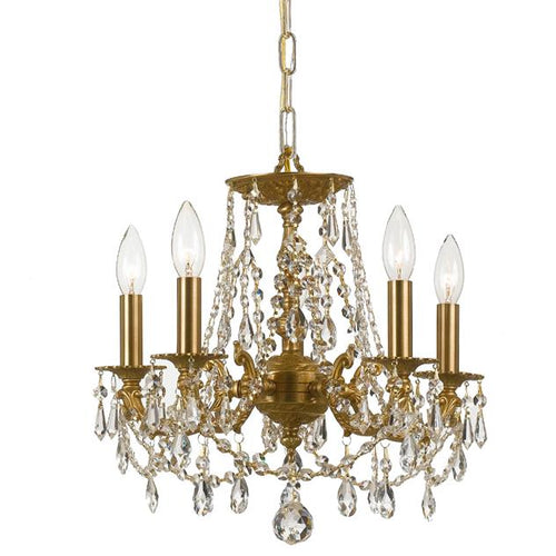 Antique Gold 5-Light Chandelier