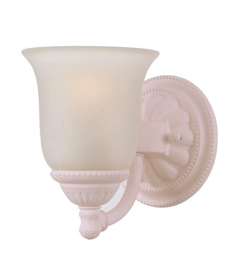 Blush Sconce w/Ivory Glass, Paris Flea Market SALE