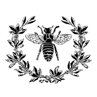 Bee and Laurel Stencil