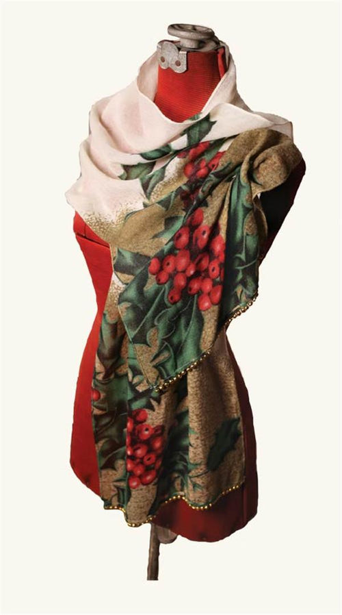 Holly Berry Jingle Bell Scarf SALE