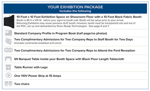 ALIE Exhibitor Package