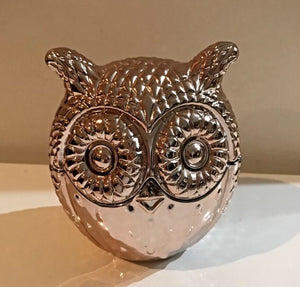 Copper Owl Candle