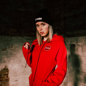 Red Patch Hoodie