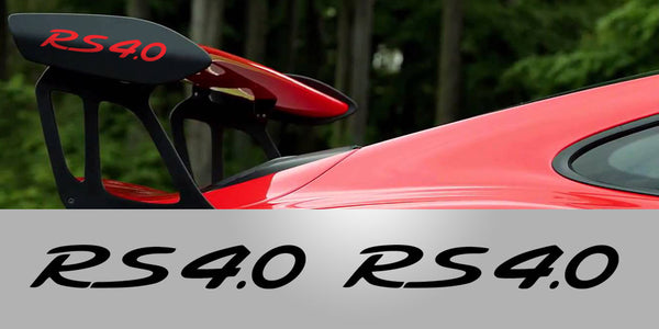 Porsche GT3 RS RS 4.0 Wing Plate Decals