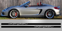 Boxster Spyder Lower Side Script Vinyl Decals