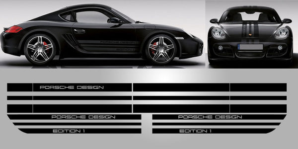 Porsche 987 Cayman edition 1 full decal set