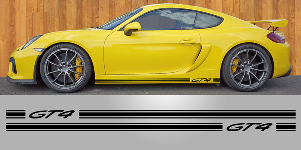 Cayman GT4 Triple side stripe rocker decal