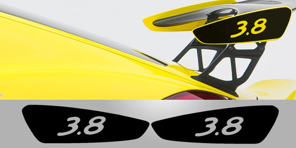 Cayman GT4 3.8 Wing Plate Decals