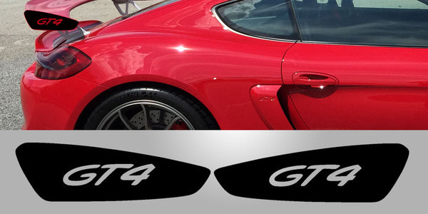 Cayman GT4 Wing Plate Vinyl Decal