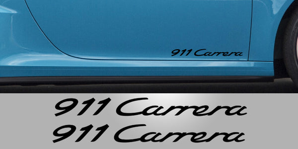 Porsche 911 Carrera Door Decals