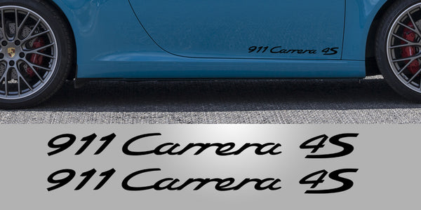 Porsche 911 Carrera 4S Door Decals