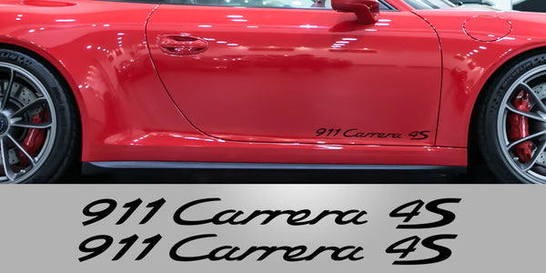 Carrera 4S Porsche door decals