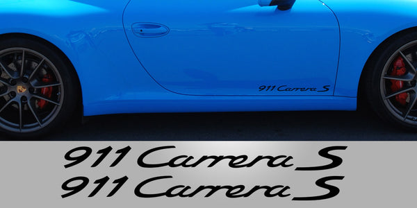 911 Carrera Door Vinyl Decals