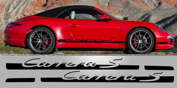 Porsche 997 Carrera S tapered side decal graphic