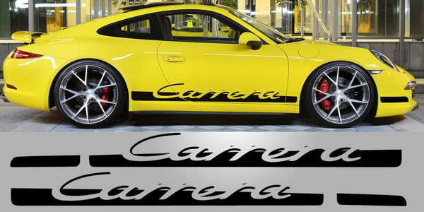 Tapered 997 Carrera Side Script Porsche Decals