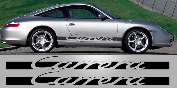 Porsche Carrera Side Script Decal