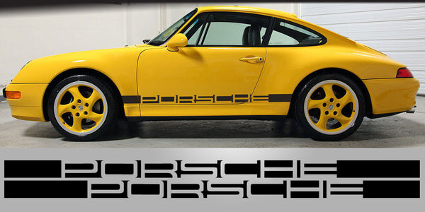 Porsche negative side decal letters