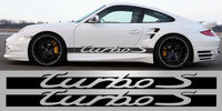 Porsche Turbo S side decal script