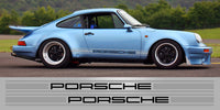 Porsche 4 inch two tone triple stripe