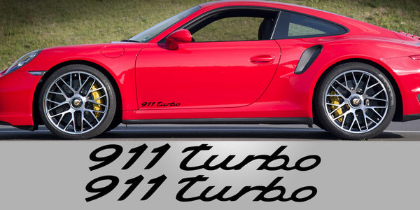 Porsche 911 Turbo Door Decals