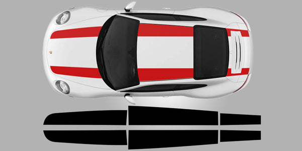 Porsche 911 R Top Stripe Decal Graphics