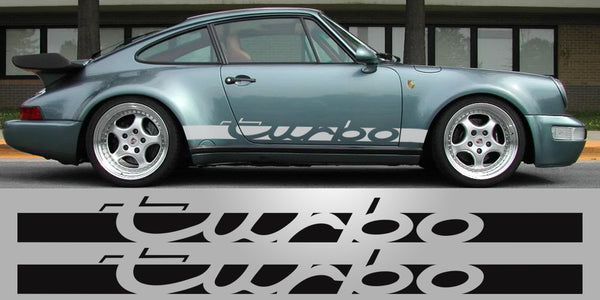 Porsche 930 Turbo vinyl side decals graphics