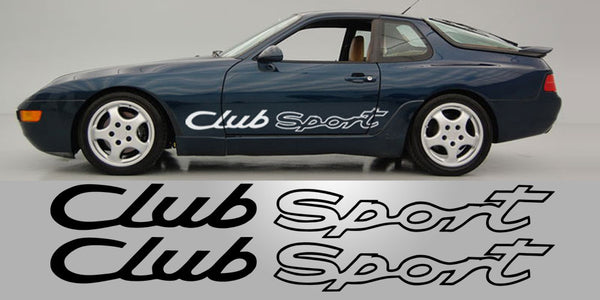 Porsche 968 Club Sport Side Decals