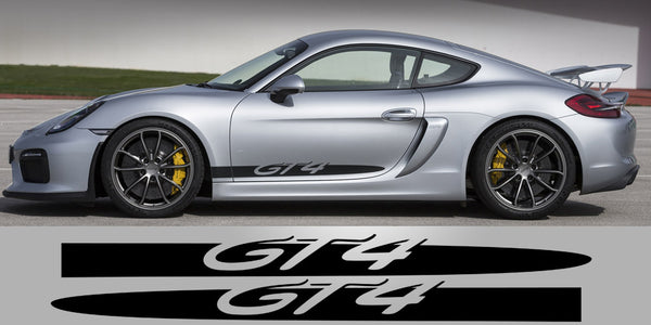 Cayman GT4 Side Script Spears Decals