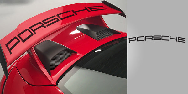 Porsche 991 GT3 Curved Rear Wing Vinyl Decal