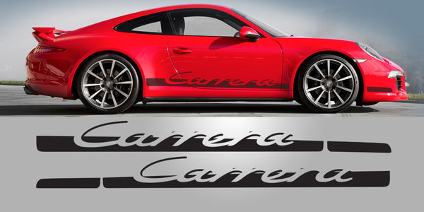 Tapered Carrera side decal script 991