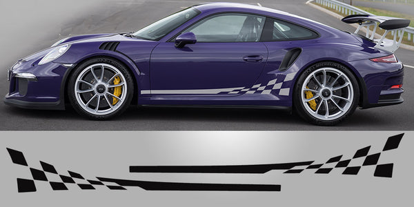 Porsche 991 Checkered Side Decals