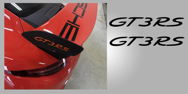Porsche 991 GT3 RS Wing Plate Decals