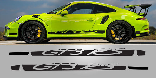 Porsche 991.1 GT3 RS Side Decal Script