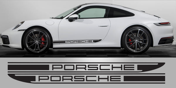 Pporsche 992 OEM Style side decal stripes