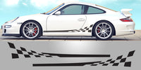 Porsche 997 Checkered Side Vinyl Decals