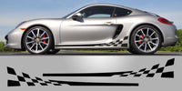 Porsche 981 Cayman Boxster Checkered Side Decals