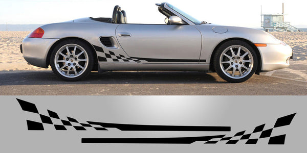 Porsche 986 Checkered Side Vinyl Decals