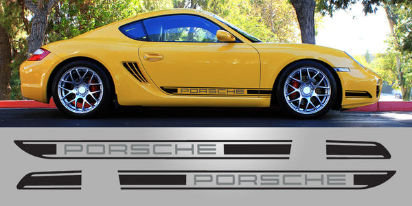 Porsche 987 Cayman two tone side decals