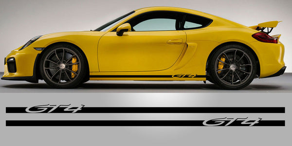 Cayman GT4 Lower rocker vinyl decals