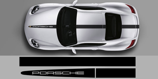Porsche Cayman Tech Equipment Center Stripe