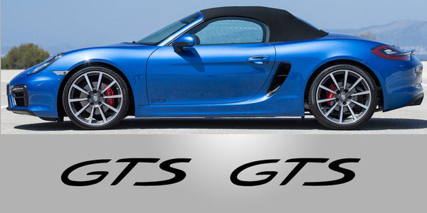 Porsche GTS Door Vinyl Decals
