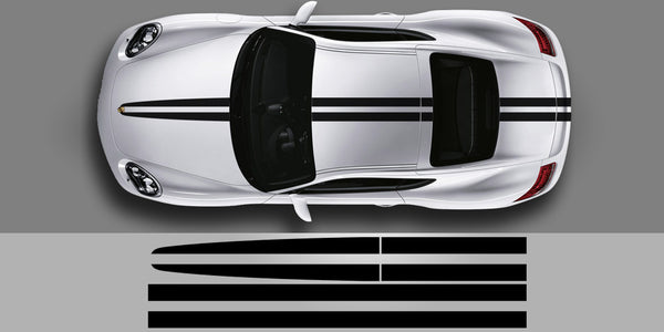 Porsche Split Stripe Vinyl Decals