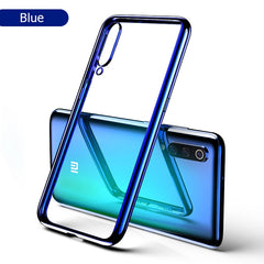 For Xiaomi Mi 9 Case 3D Laser Plating Luxury TPU Soft Clear Cover For Xiaomi Mi 9 SE  Bright Crystal Phone Cases