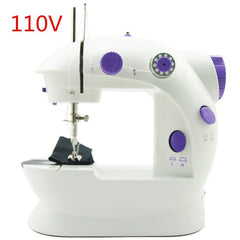 Electric Mini Sewing Machine For Home Hand Machine To Sew 110/220V Speed Adjustment with Light Handheld Sewing Machine