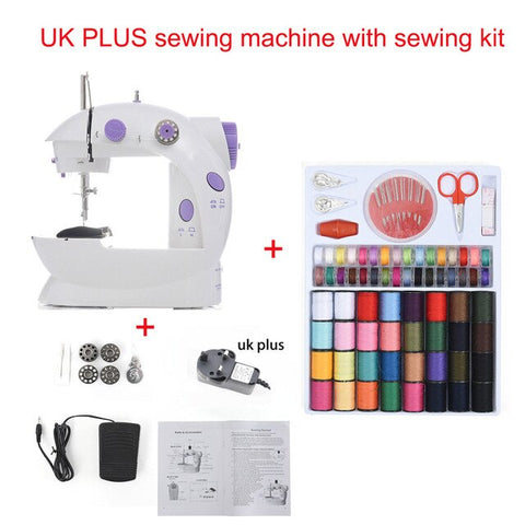 2019 Mini Portable Handheld sewing machines Stitch Sew needlework Cordless Clothes Fabrics Electrec Sewing Machine Stitch Set 16