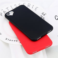 Lovebay Phone Case For iPhone 6 6s 7 8 Plus 5 5s SE Fashion Candy Solid Color Love Heart Soft Silicone For iPhone 8 Phone Case