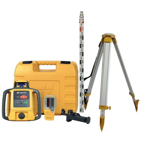 TOPCON RL-H5A LEVEL LASER WITH TRIPOD AND STAFF