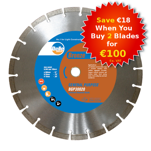 Belle Bronze General Masonry (BGP) Diamond Consaw Blade