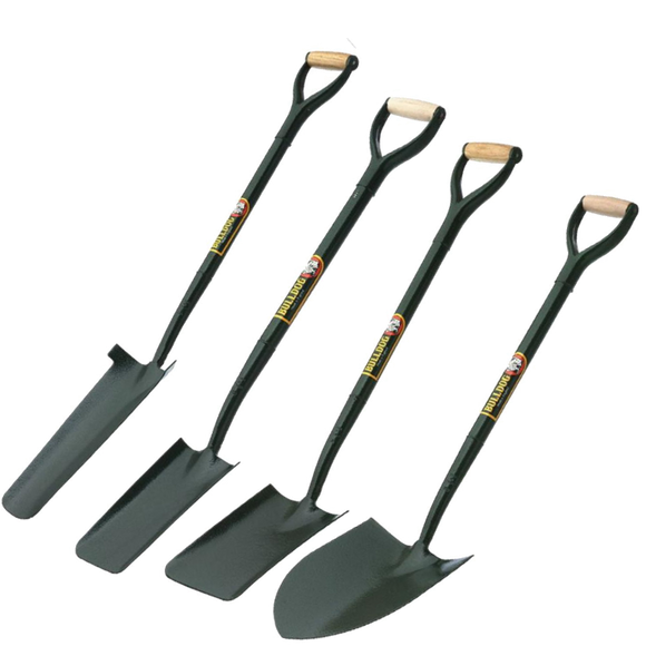 Bulldog Pack of 4 all-steel shovels